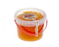 Ведро пластиковое с липовым медом 1,0 кг