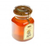 Мед в стекл. банке 0,9 кг с цвет. пыльцой