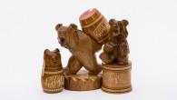 Сувенирные медведи с медом